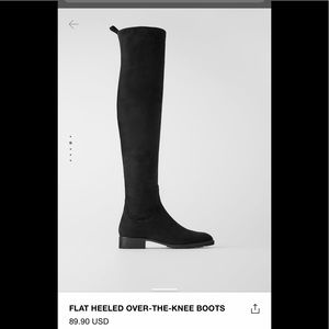 ZARA Flat heeled over the knee boots